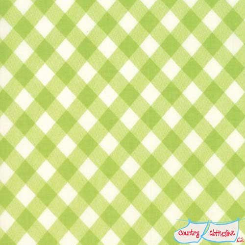 Bonnie & Camille Basics Vintage Picnic Gingham Green Quilt Fabric