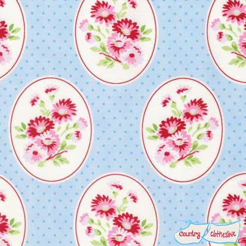 Rambling Rose Granny's Wallpaper quilt fabric by Tanya Whelan for freespirit