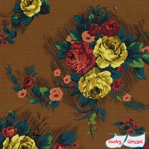 Outback Wife Elizabeth Brown Barkcloth fabric