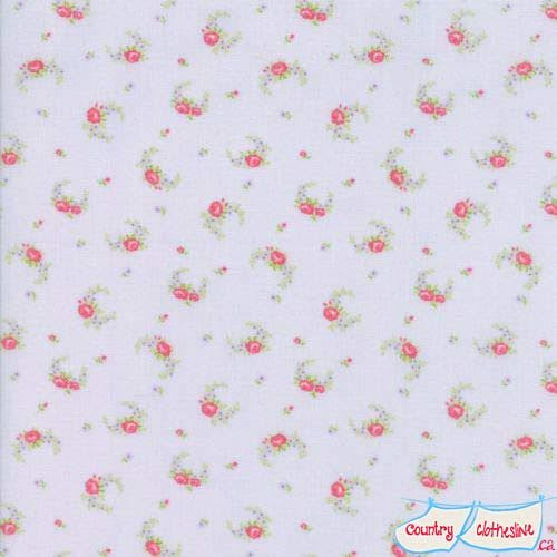 Guernsey Sky Elizabeth Rose Swag fabric by Brenda Riddle
