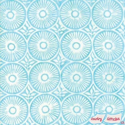 Longitutde Batik Aqua by Kate Spain for Moda