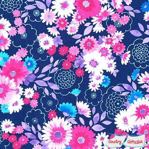 Laurel Canyon Bouquet Laguna fabric by Robert Kaufman