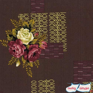 Outback Wife Kristine Wild Rose Barkcloth Fabric by Gertrude Made