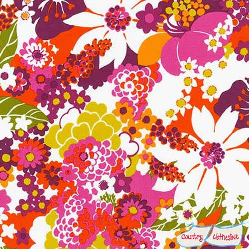 Laurel Canyon Geo Floral Vintage fabric by Robert Kaufman