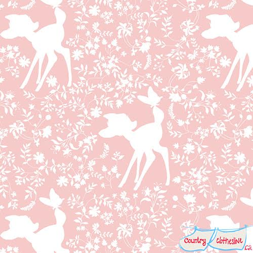 Bambi Refresh Silhouette in Pink by Camelot Fabric