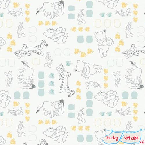Winnie the Pooh Characters fabric by Camelot