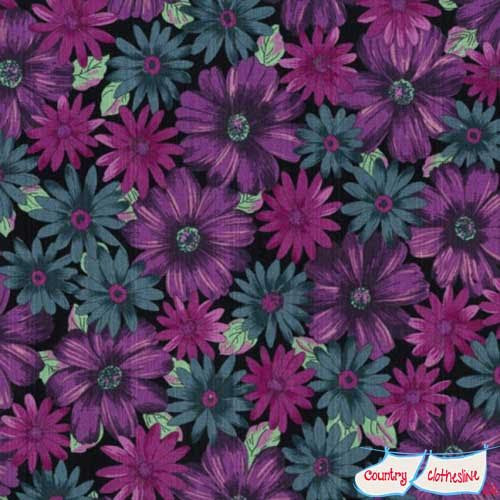 Outback Wife Mary Purple Barkcloth by Gertrude Made for Ella Blue Fabrics