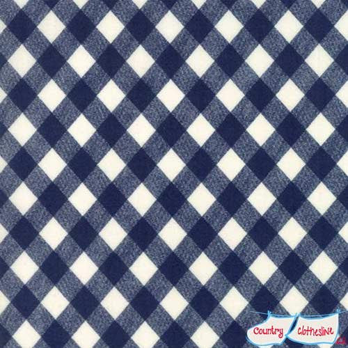 Bonnie & Camille Basics Vintage Picnic Gingham Navy Quilt Fabric