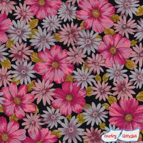 Outback Wife Mary Pink Barkcloth by Gertrude Made for Ella Blue Fabrics