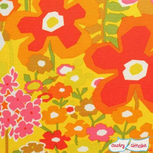 Keely Yellow by Alexander Henry heavy oxford cotton fabric