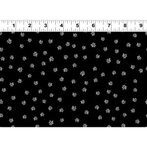 Snarky Cats Paw Prints Black