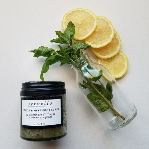 Servello Lemon Mint Foot Scrub