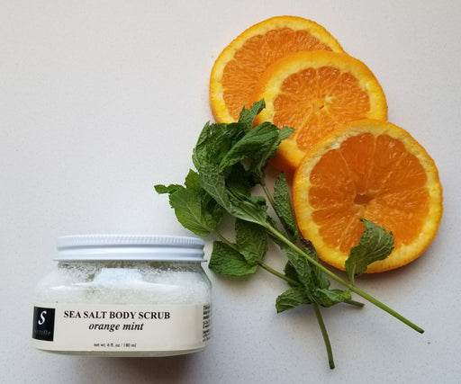 Servello Sea Salt Body Scrub (Orange Mint) (Small)