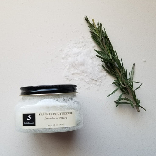 Servello Sea Salt Body Scrub (Lavender + Rosemary)