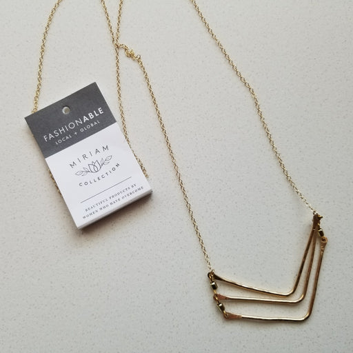 Tiered Chevron Necklace