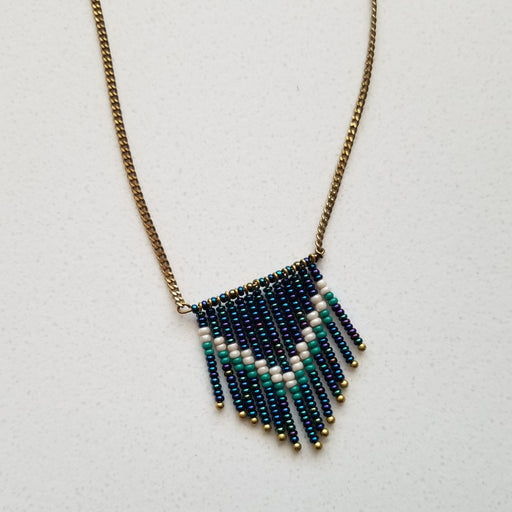 Hatua Point Necklace in Indigo