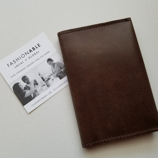 Eyerusalem Passport Wallet in Chocolate