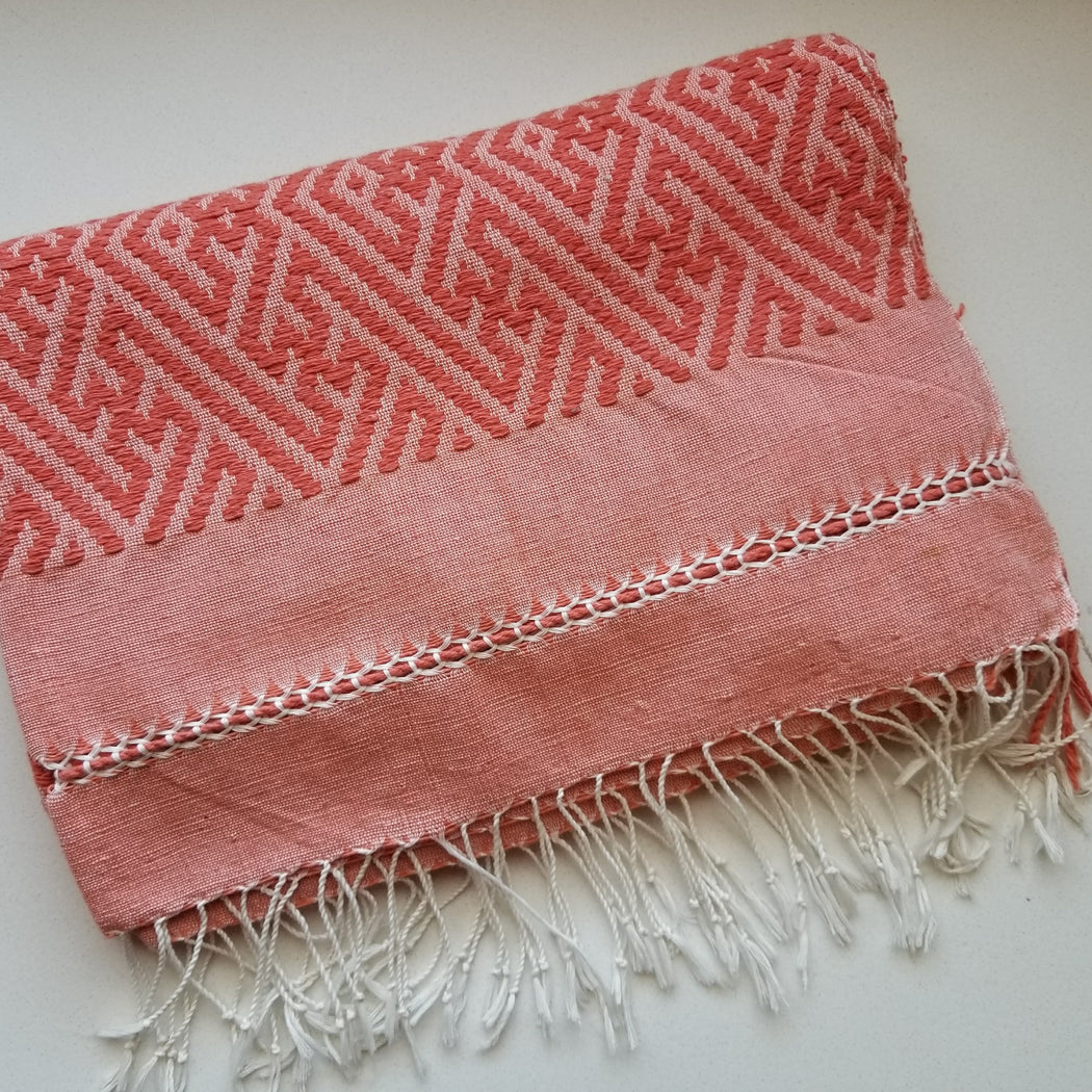 Navia Throw in Coral