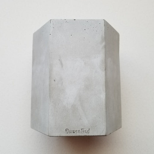 Hex Concrete Pen Cup