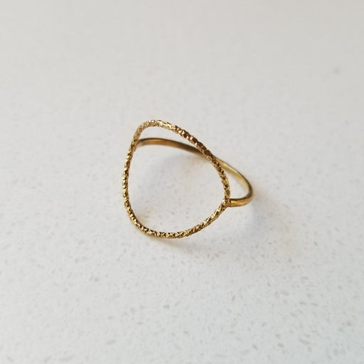 Karma Large Sparkle Ring in Gold