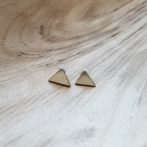 Triangle Stud Earrings in Silver