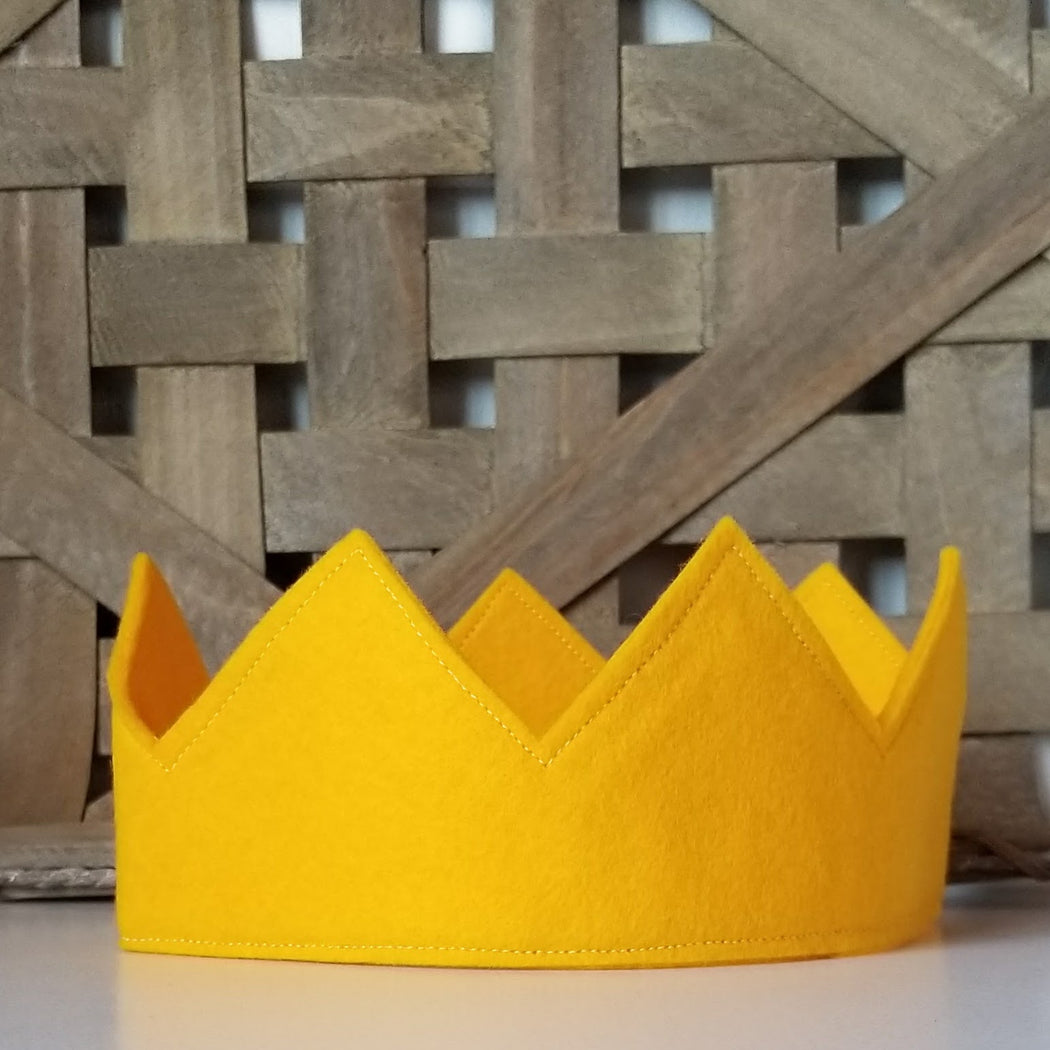 Kids Crown for a Prince or Princess in Yellow