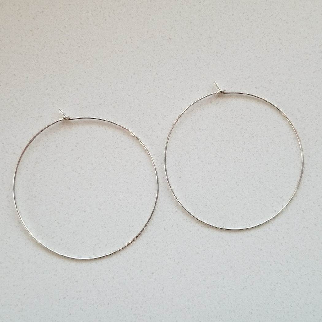 Pure Hoops in Sterling Silver (extra large)