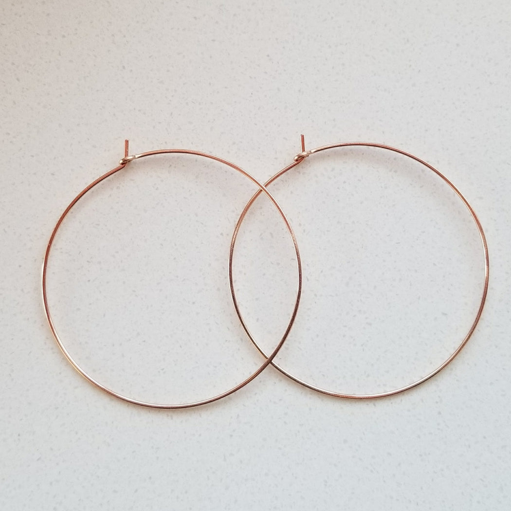 Pure Hoops in Rose (extra large)