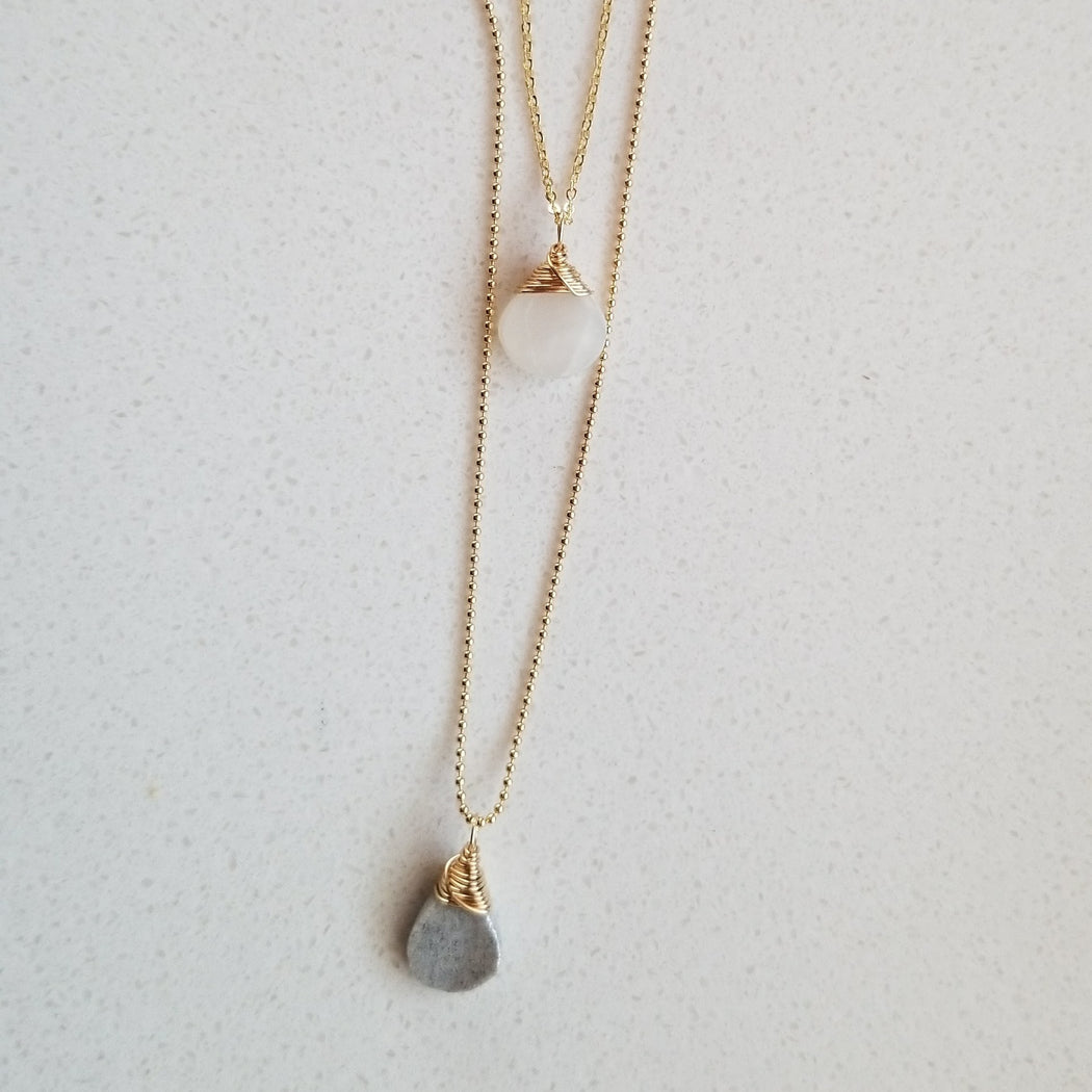 Wander Layered Crystal Necklace