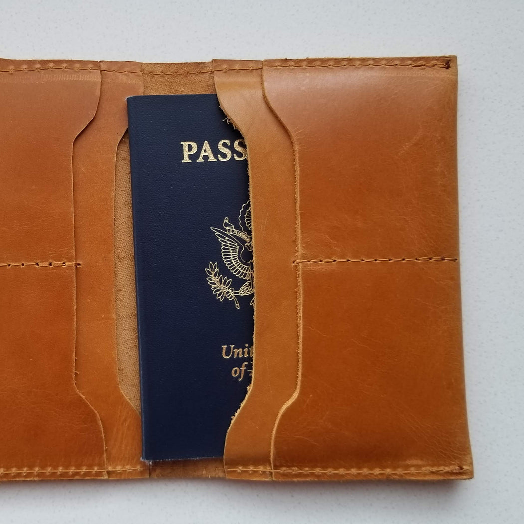 Eyerusalem Passport Wallet in Cognac