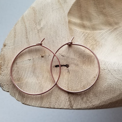 Pure Hoops in Rose (medium)