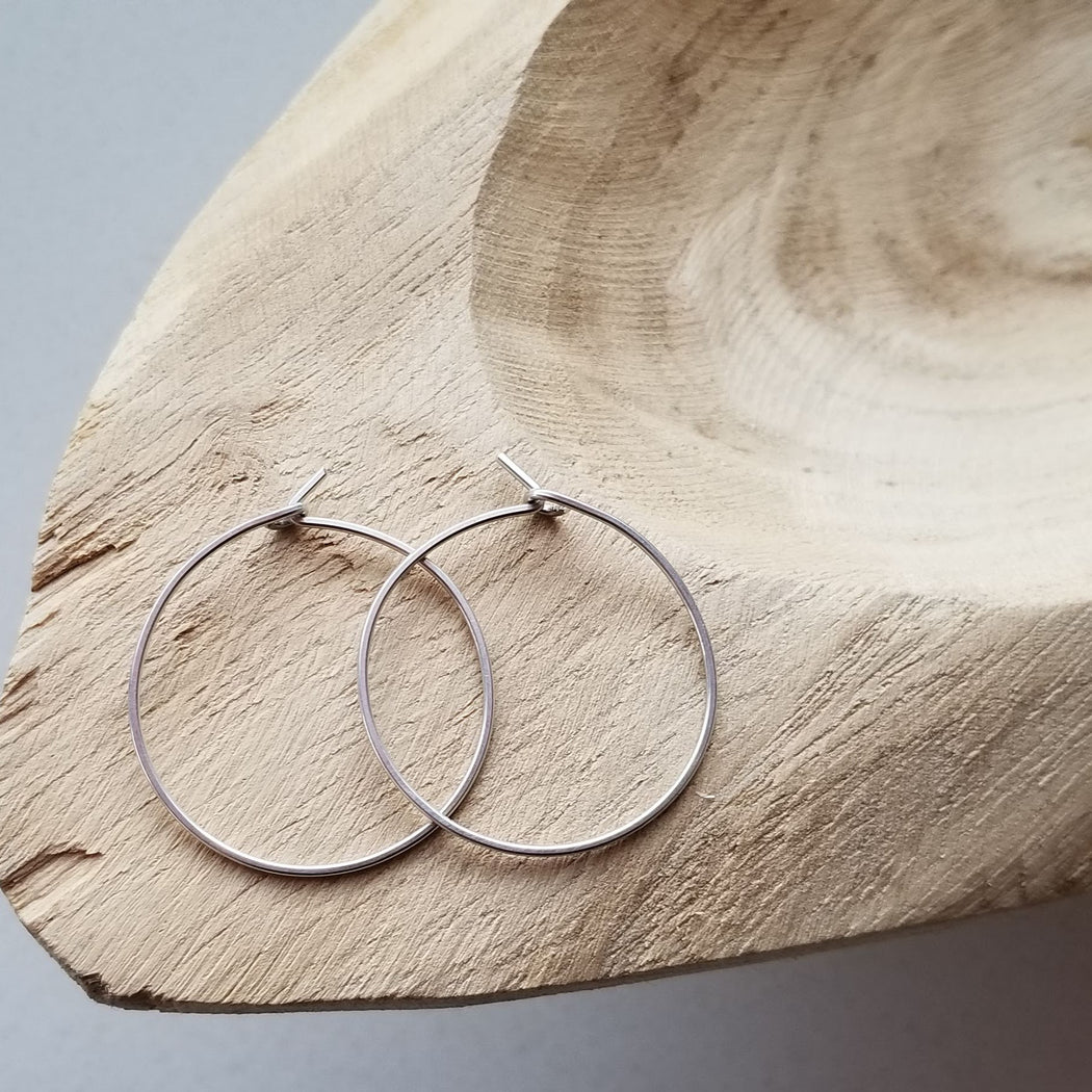 Pure Hoops in Silver (small)