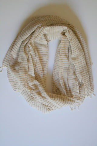 Selam Scarf in Ivory with Sahara Stripes