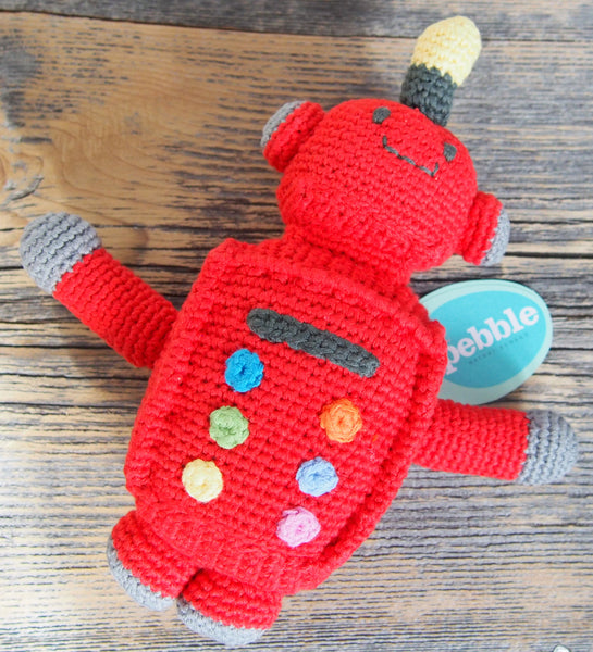 Pebble 'Tin' the Robot Rattle