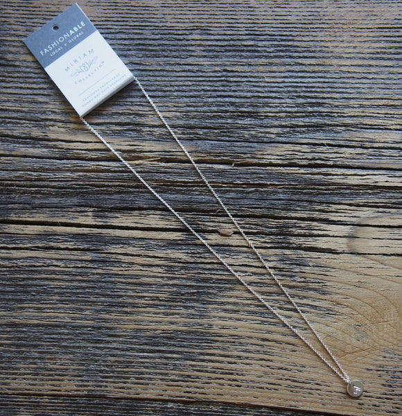 Mini Tag Necklace (Silver Arrow)