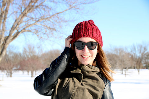 Knit Holbrook Hat (Child/Teen in Merlot)