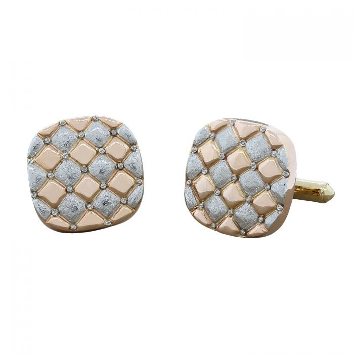 Estate Checkered Tri-Tone Cufflinks