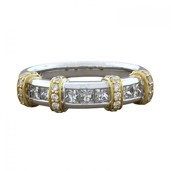 Diamond Two-Tone Gold Band Ring