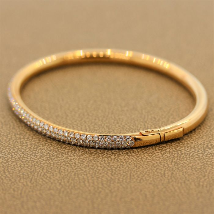 Diamond Gold Hard Bracelet