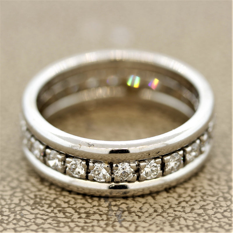 Diamond Gold Eternity Ring Band