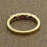 Gemlok Ruby Diamond Gold Band Ring