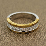 Diamond Two-Tone Gold Ring Band