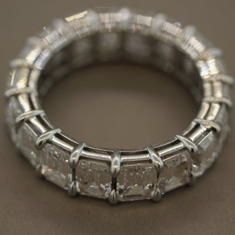 Bvlgari Diamond Platinum Eternity Band Ring