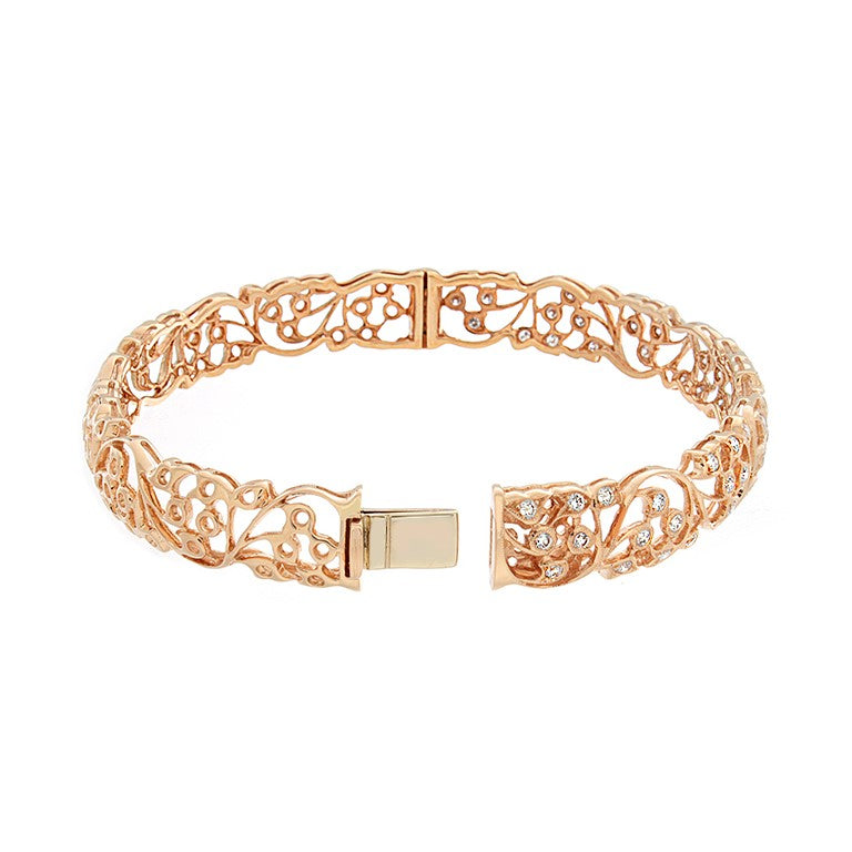 Garden Flower Gold Diamond Bracelet