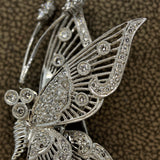 "Diamond Gold ""Tremble"" Butterfly Brooch"
