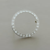 Art Deco Diamond Platinum Circle Pin Brooch
