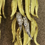 "Diamond Gold ""Tree Branch"" Brooch"