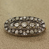 Victorian Antique Diamond Gold Brooch