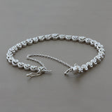 Diamond Gold Tennis Bracelet with Safety Chain and Latch