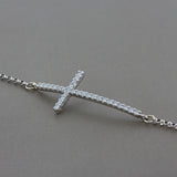 Diamond Gold Cross Bracelet